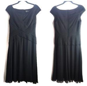 TADASHI collection black cocktail dress
